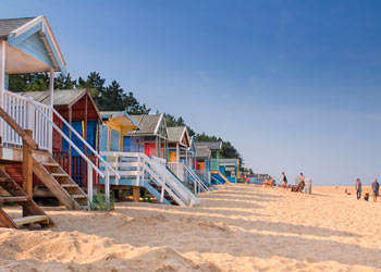 Beach Huts at Wells, North Norfolk